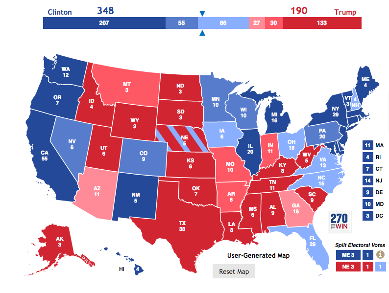 The author's Electoral College map.