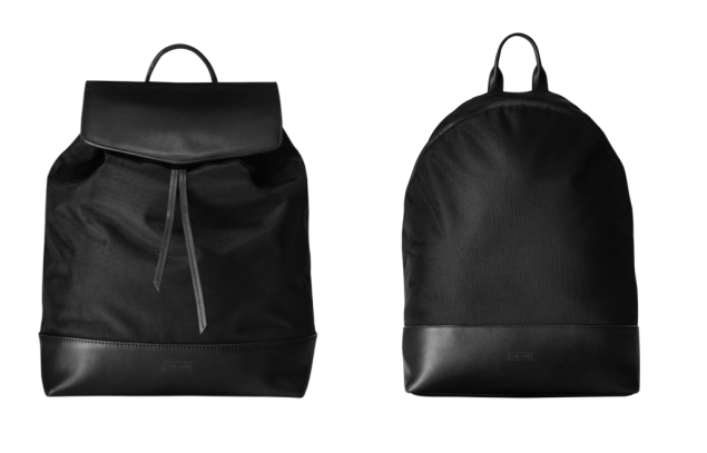 The women's bag, left, and men's, right