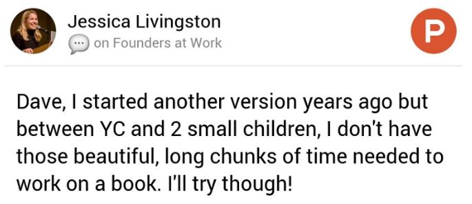 Jessica Livingston on Product Hunt