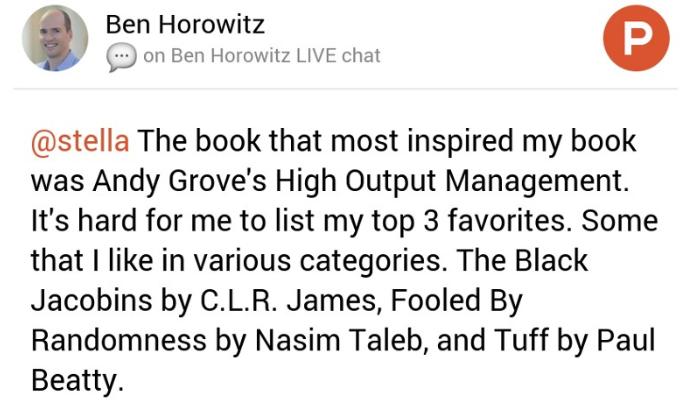 Ben Horowitz on Product Hunt