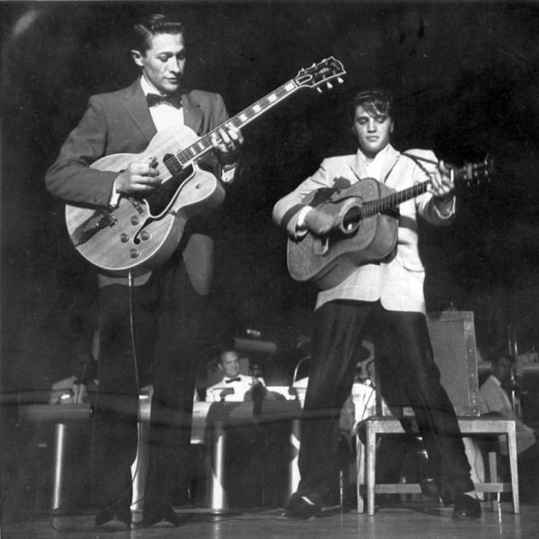 Scotty Moore and Elvis.