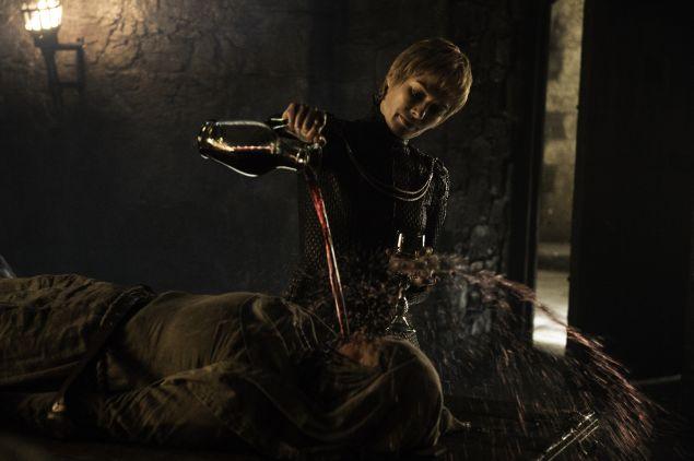 Lena Headey as Cersei Lannister, Hannah Waddingham as Septa Unella.