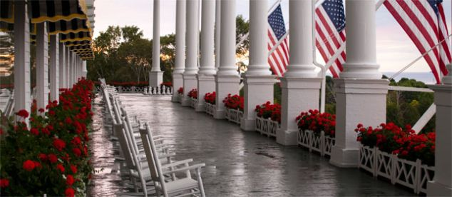 The Gathering Spot: Even more of an island landmark than British-built Ft. Mackinac, the utterly civilized Grand Hotel boasts the world's longest front porch, a popular ceremony spot with views of the manicured gardens and waterfront.