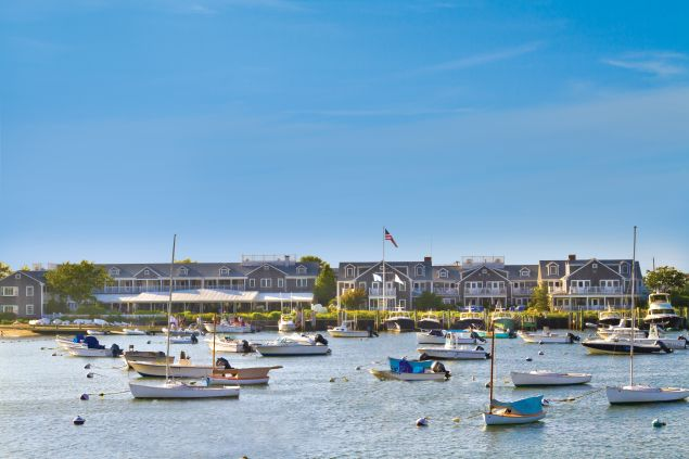 The Gathering Spot: Traditional types wouldn't dream of celebrating a special occasion anyplace but The White Elephant, Nantucket's social hub. Weddings on the lawn or terrace come with harbor views; bridal couples can practically watch their guests walk from the ferry.