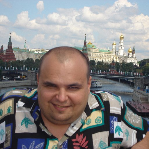 On his Facebook page Alexandr Chernov defiantly poses with the Kremlin on the background.