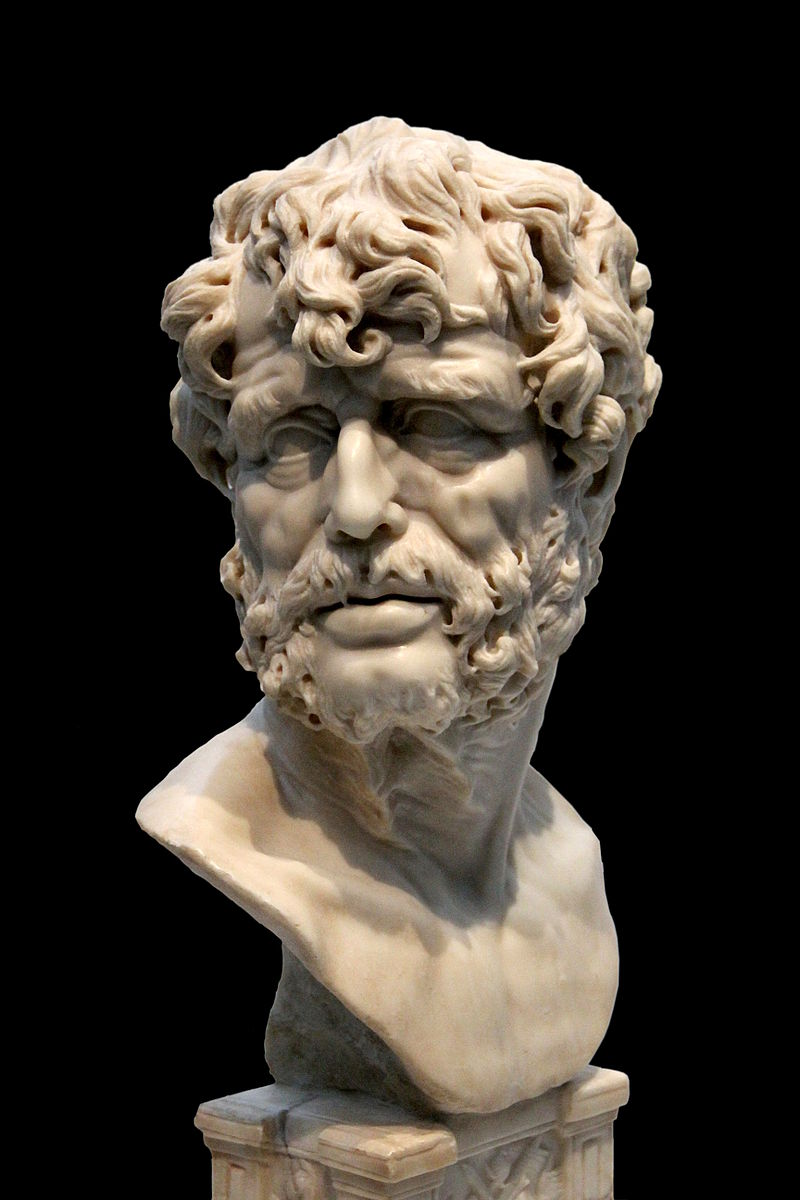 Bust of stoic philosopher Seneca by an anonymous sculptor of the 17th century.