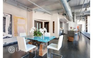 The restauranteur's airy loft has a 90-foot great room.