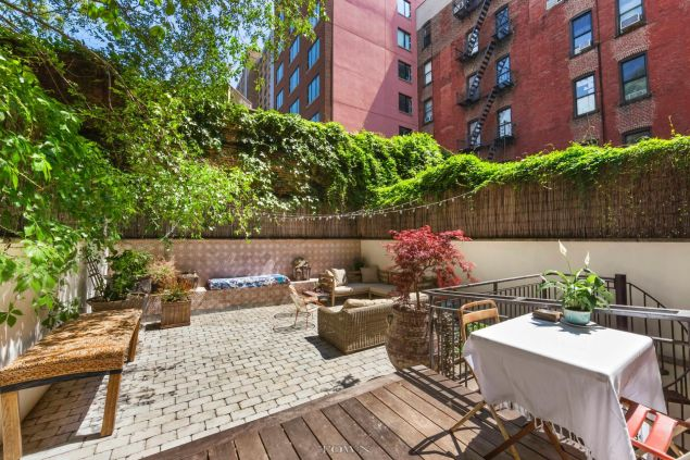 There's a summer-ready two-level terrace.