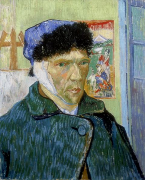 'Self-Portrait with Bandaged Ear', 1889. After a quarrel with fellow artist Paul Gauguin at Arles, Van Gogh cut off part of his own ear. (Photo by Art Media/Print Collector/Getty Images)
