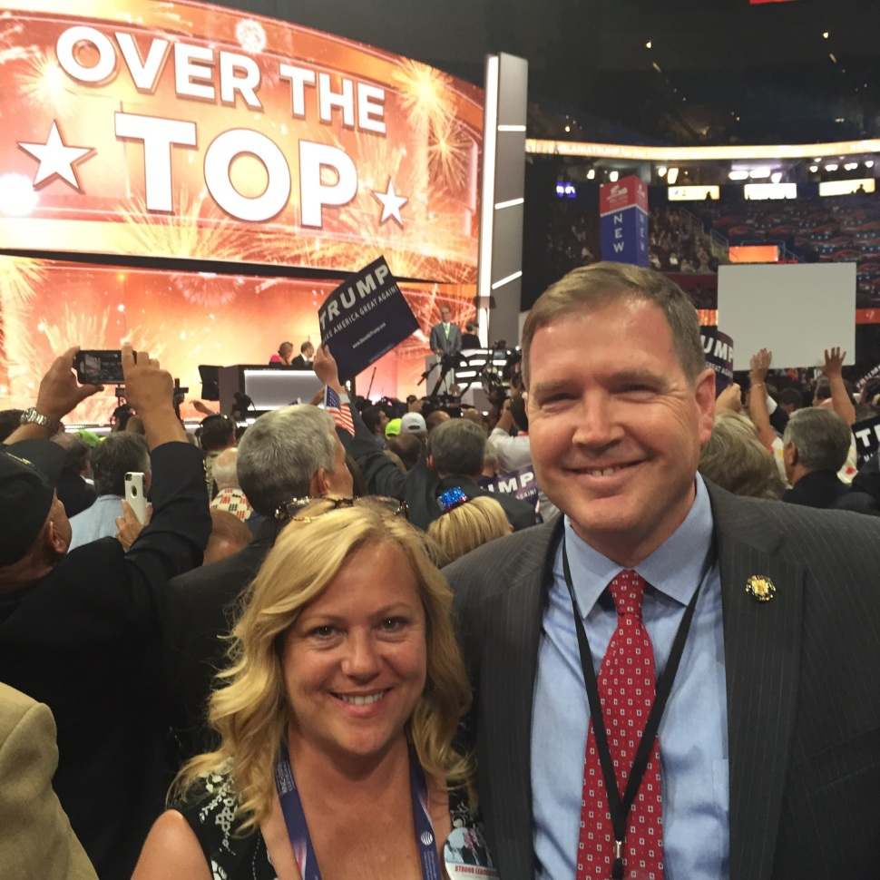 Senator Mike Doherty and his wife at the 2016 RNC.