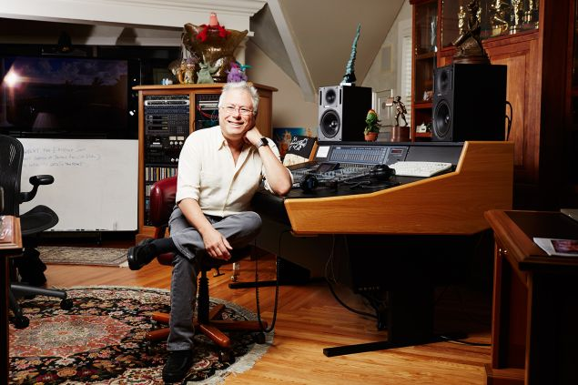 Alan Menken, award winning music composer, inside of his home office, North Salem, New York.