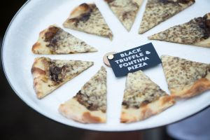 The truffle pizza is a stable at the Mark Hotel.