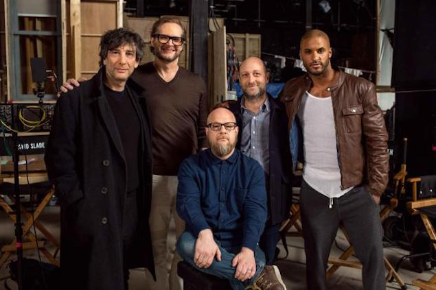 Gaiman and the creative team of 'American Gods'