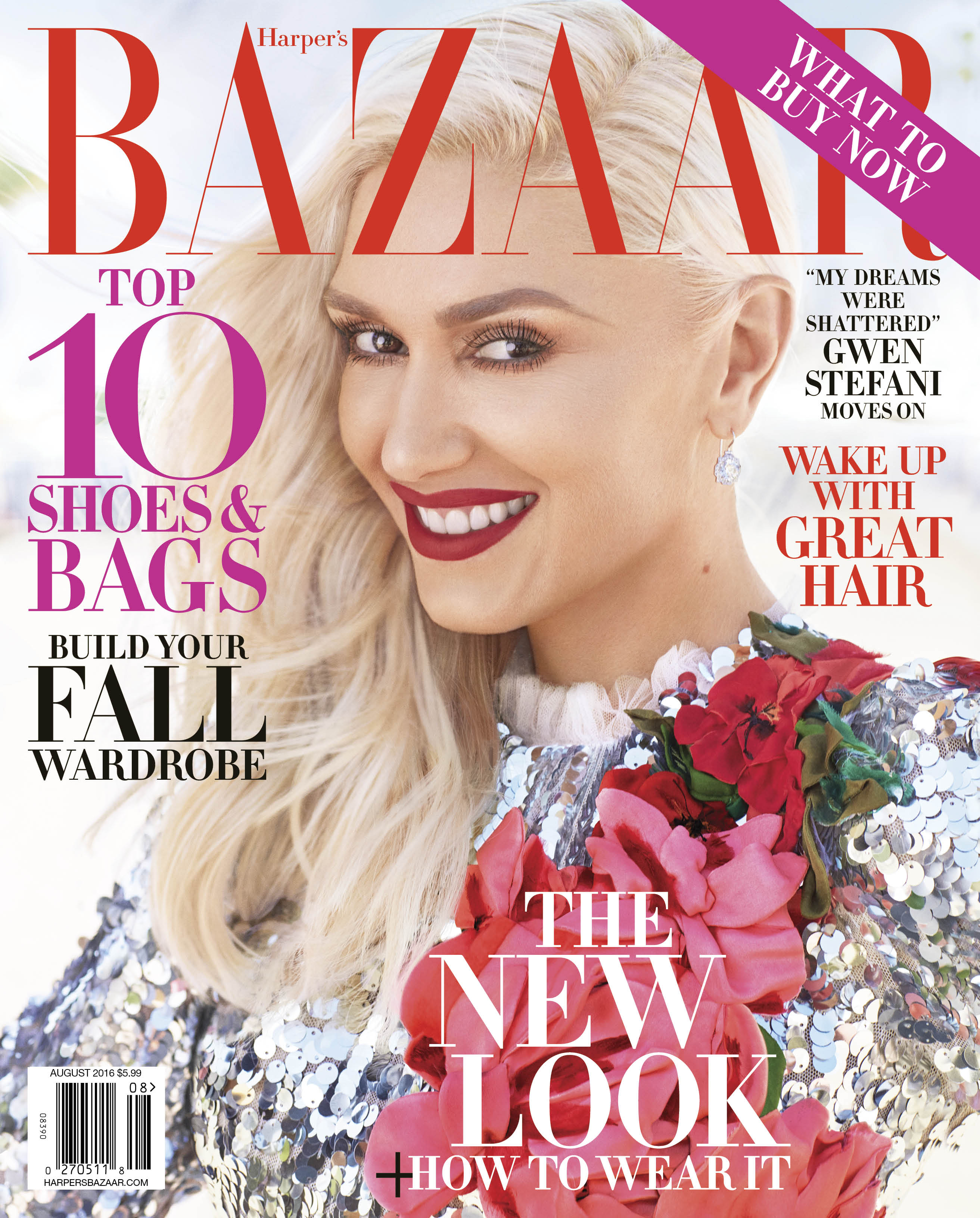 On the cover, Stefani wears her signature shade of red.