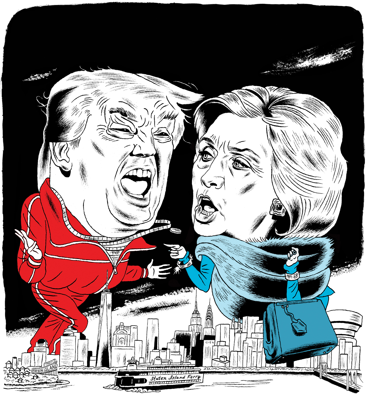 Donald Trump and Hillary Clinton face off, New Yorker vs. New Yorker, for the presidency.