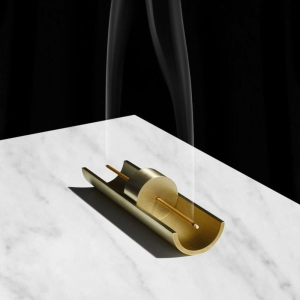 This solid brass burner catches its own ash, and it's the perfect décor accessory.