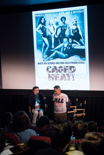 """Demme shows off the """"self-therapy"""" T-shirt that he made in response to recent tragedies around the country."""