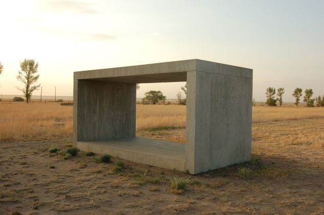 "A Donald Judd piece. Does it make you think about ""imagery and image""?"