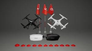 Autonomous's drone racing kit package. No controllers!