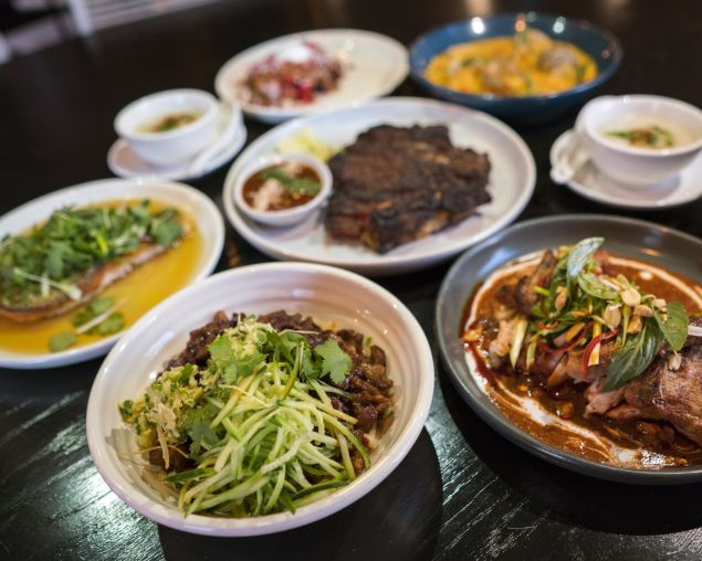 Hot hot hot: Dandan noodles are a new addition to Louis Tikaram's family-style feasts.