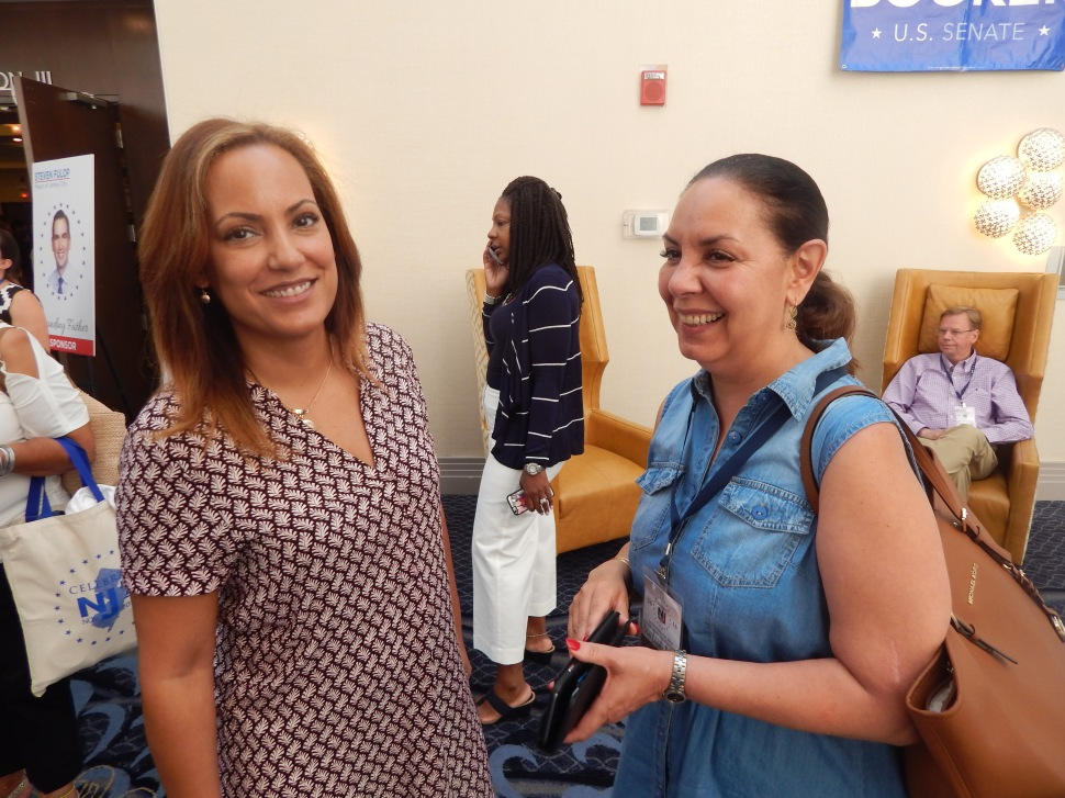 SEIU 32Bj Political Director Julie Diaz, left, and North Jersey political operative Idida Rodriguez.