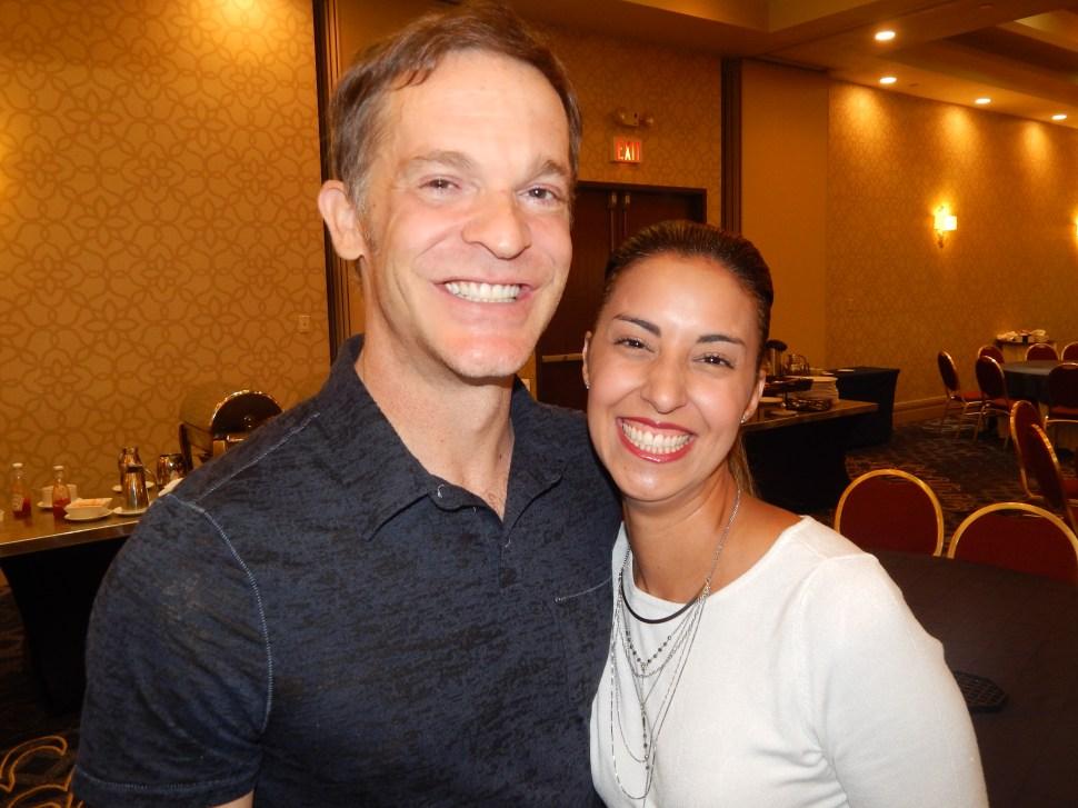 PolitickerNJ columnist Jay Lassiter and Hunterdon County Democratic Chair Arlene Quinones Perez.
