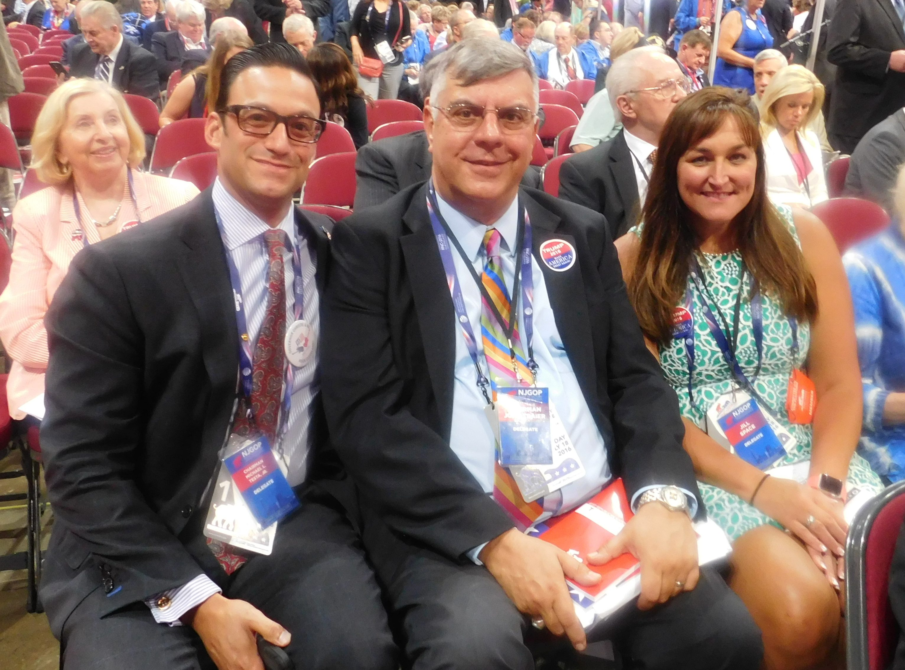 From left: Testa, Traier and Space at the 2016 RNC.