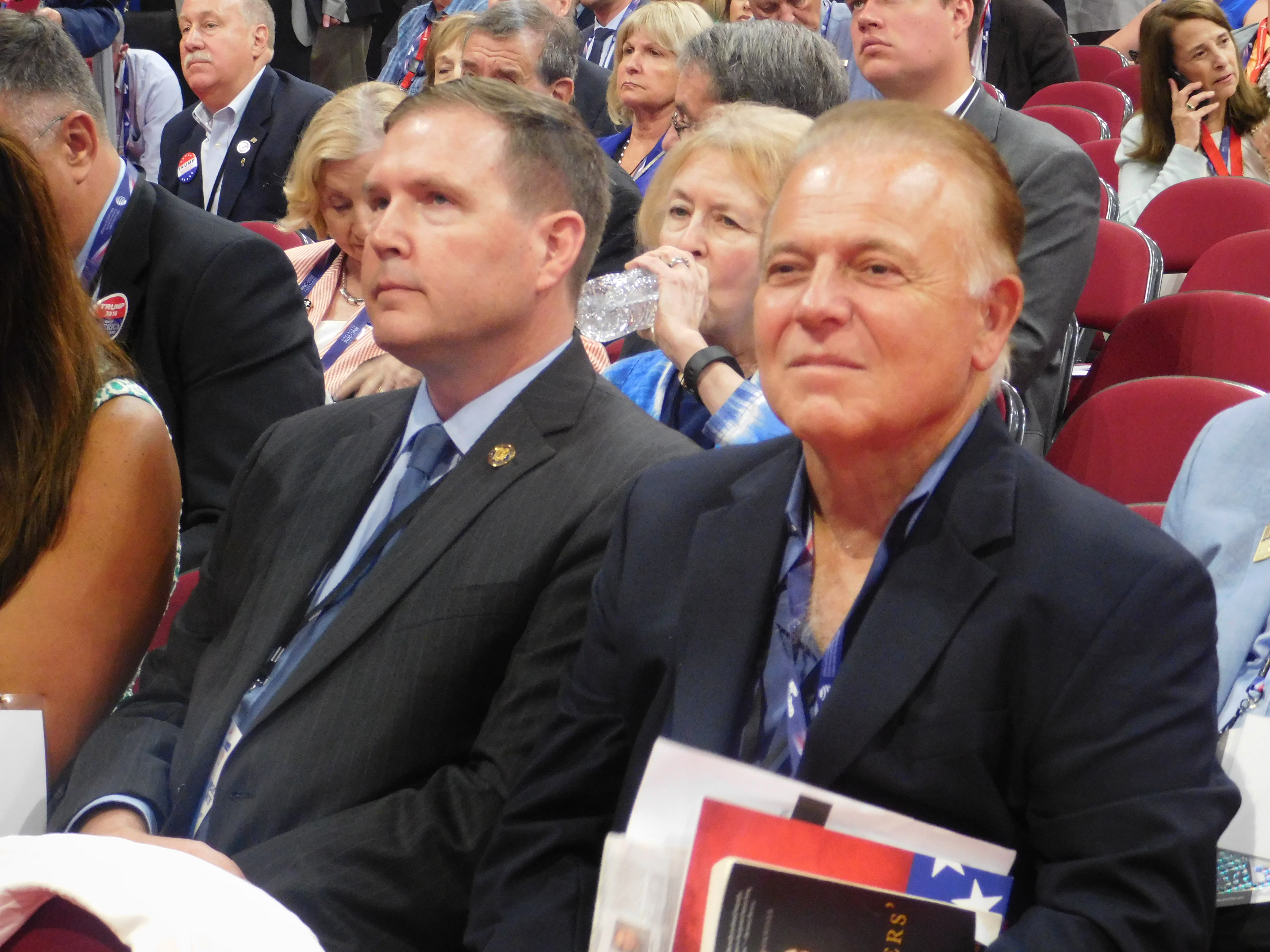 Doherty and state Senator Joe Pennacchio at the RNC in Cleveland.