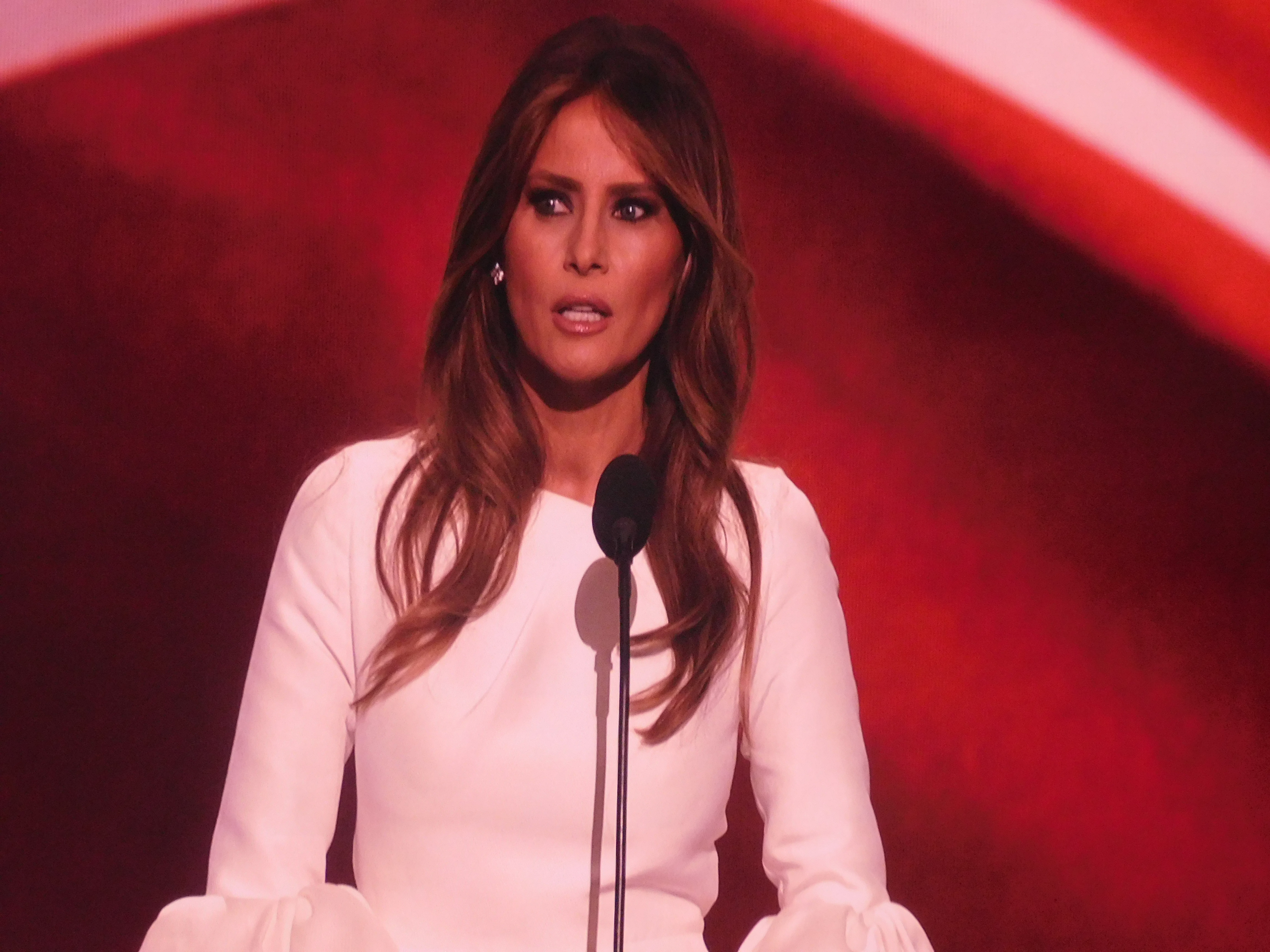 Trump introduced his wife Melania at the convention.