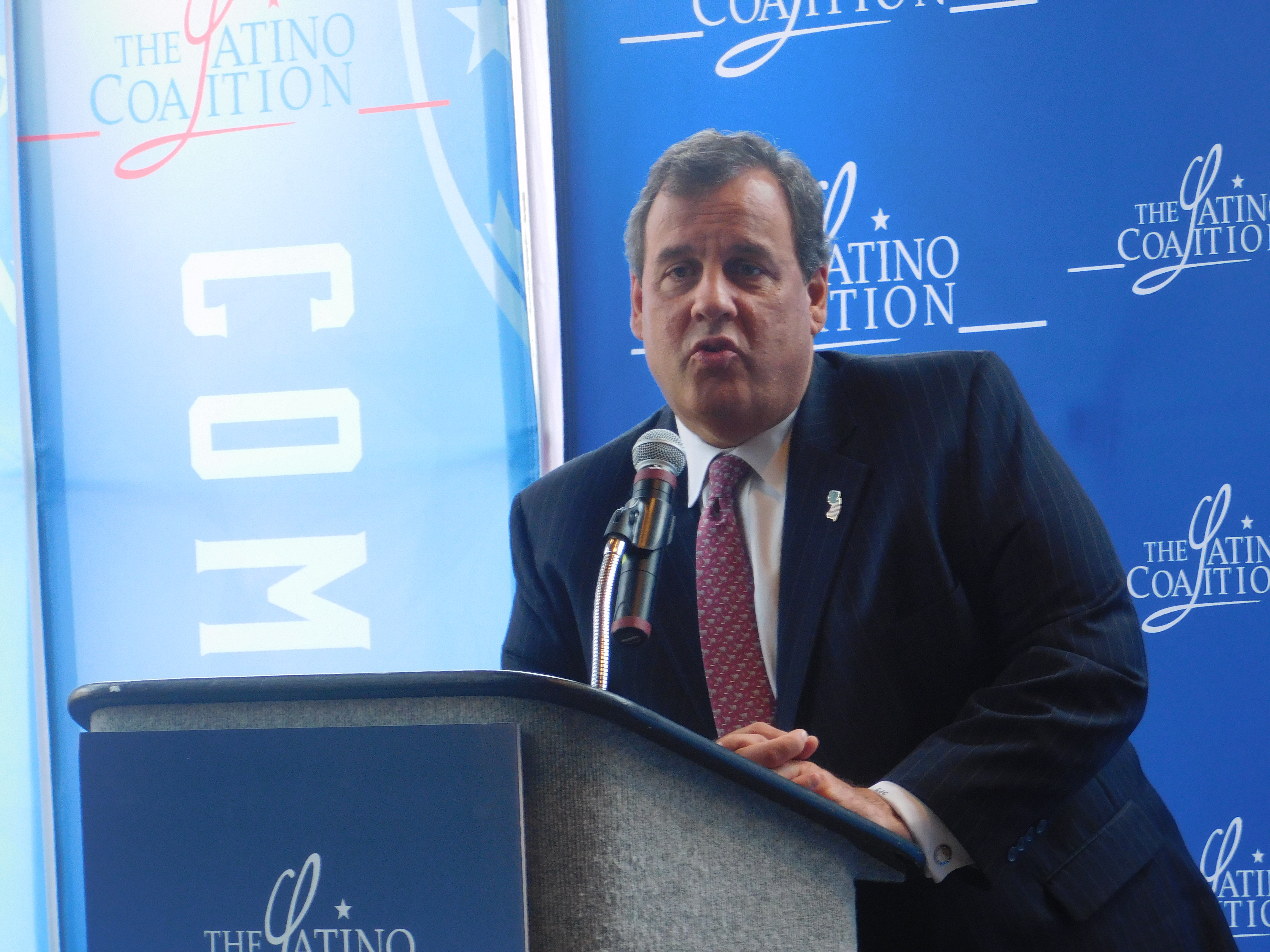 Christie addressed the Latino Coalition at the RNC.