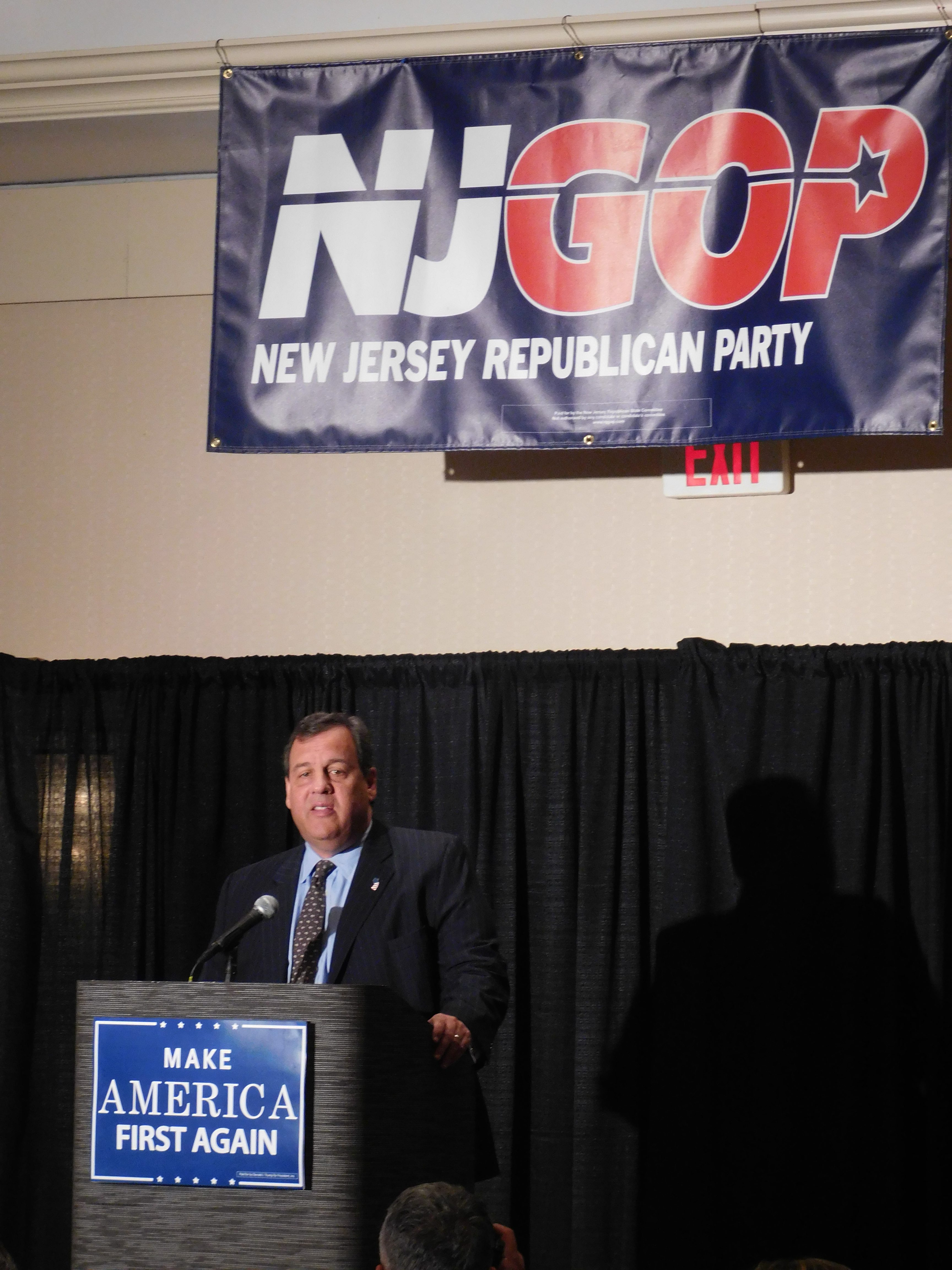Christie addressed the NJGOP delegation in Ohio.