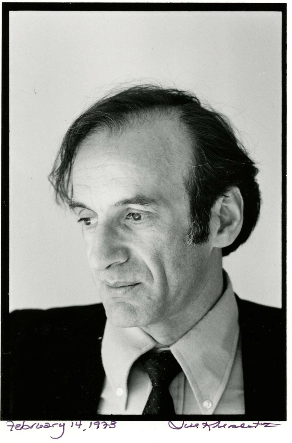Elie Wiesel photographed by Jill Krementz on February 14, 1973 in his office on Central Park West.