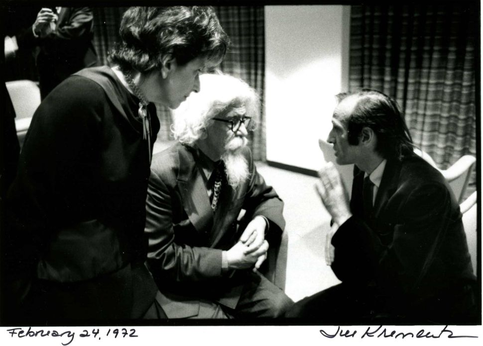 Elie Wiesel with Sylvia & Abraham Joshua Heschel in New York City February 24, 1972.