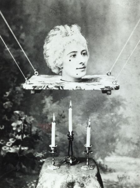 Production still picturing Jehanne d'Alcy, actress and the wife of Georges Méliès in his film La source enchantée, circa 1890s.