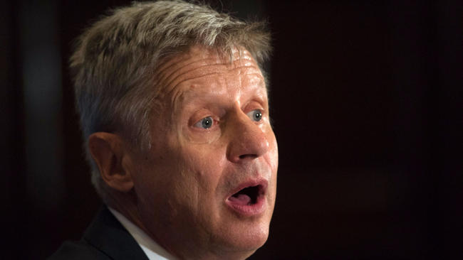 Gary Johnson is the Libertarian Party's nominee for president.