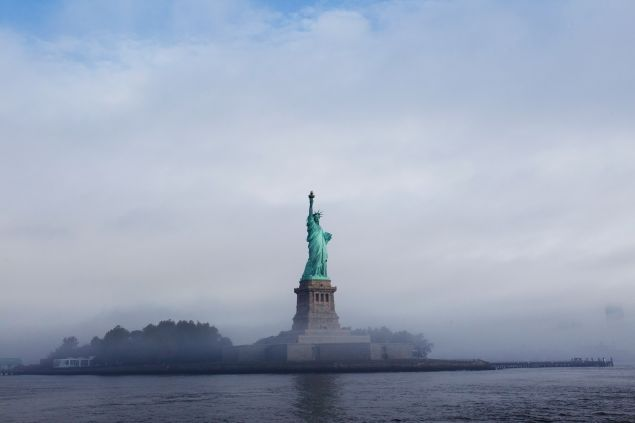 The Statue of Liberty is seen through fog prior to the start of the 125th Anniversary of the Statue of Liberty ceremony on Liberty Island on September 22, 2011 in New York City. The 125th Anniversary of the Statue of Liberty is to be celebrated on October 28th, 2011.