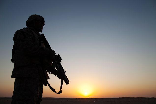 Specialist Dante Battle from the 3rd Brigade Combat Team. December 18, 2011 near Nasiriyah, Iraq.