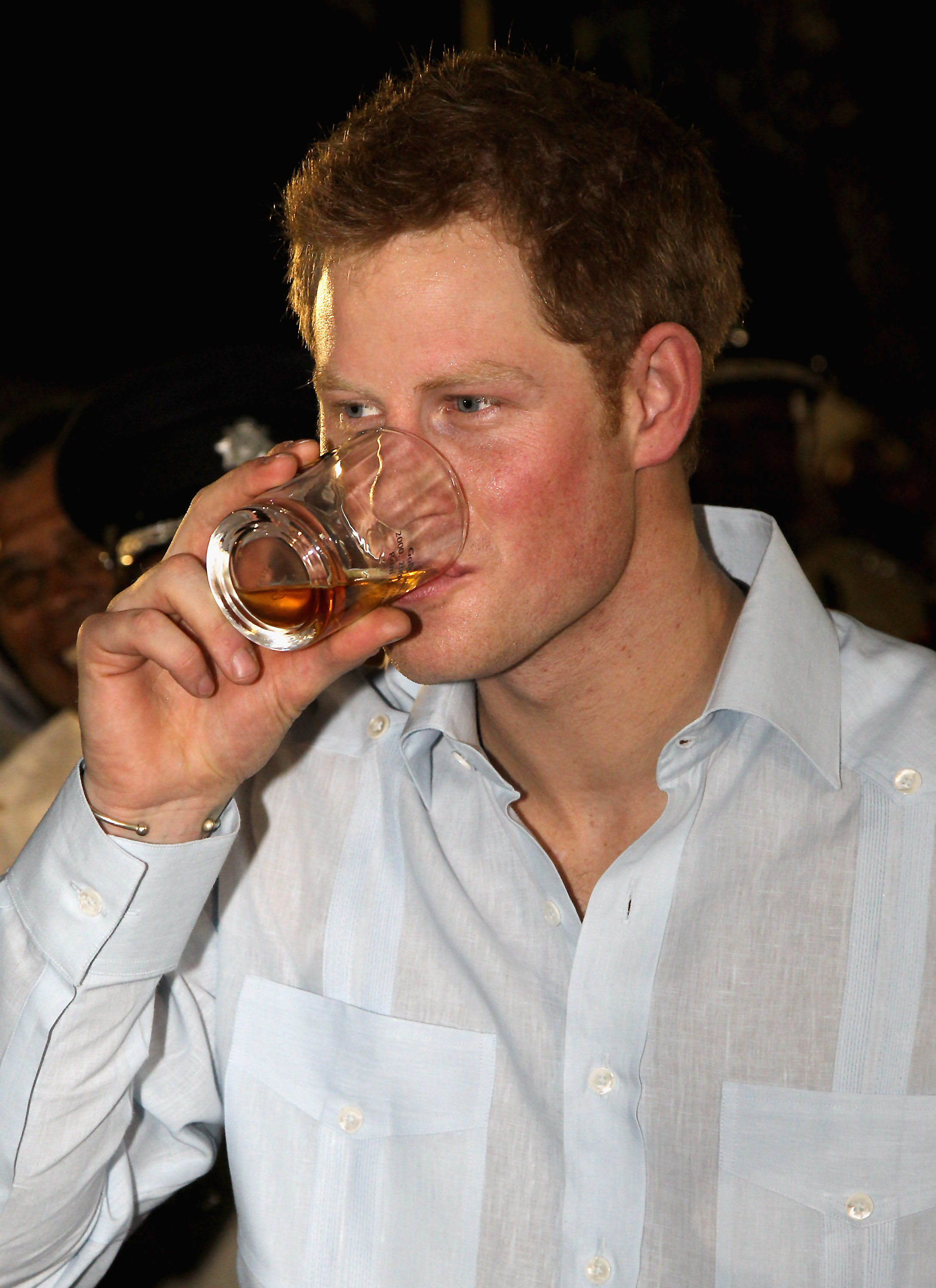 Prince Harry preparing to party.