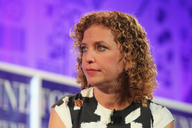 DNC chair Debbie Wasserman Schultz speaks onstage at the FORTUNE Most Powerful Women Summit on October 16, 2013 in Washington, DC.