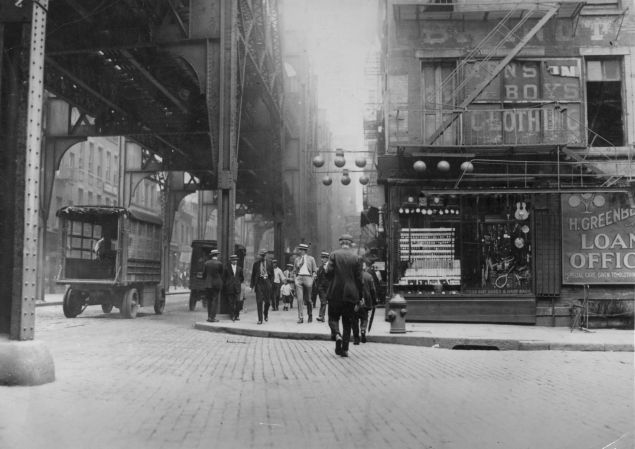 New York City's East Side in the 1925.