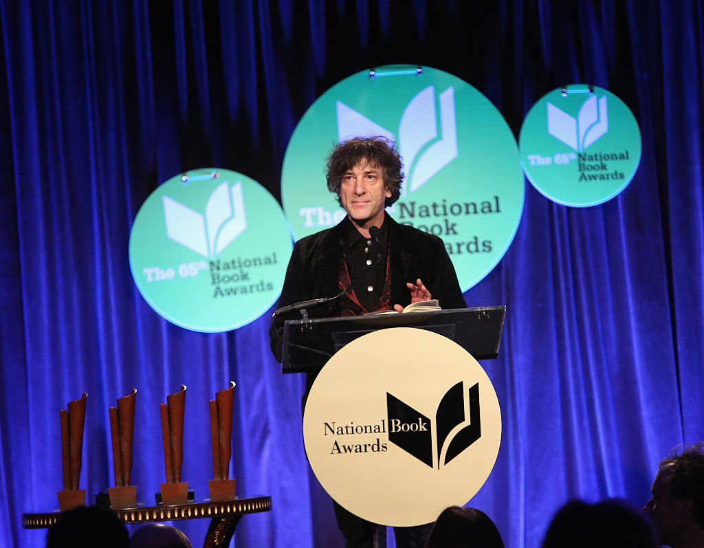 Neil Gaiman at the National Book Awards