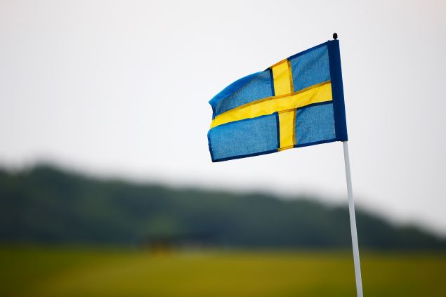 MALMO, SWEDEN - JUNE 06: The pin flags are replaced with Swedish flags to mark Sweden's National Day on day three of the Nordea Masters at the PGA Sweden National on June 6, 2015 in Malmo, Sweden.