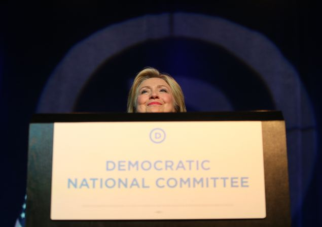 Democratic Presidential candidate Hillary Clinton speaks at the Democratic National Committee summer meeting on August 28, 2015 in Minneapolis, Minnesota.