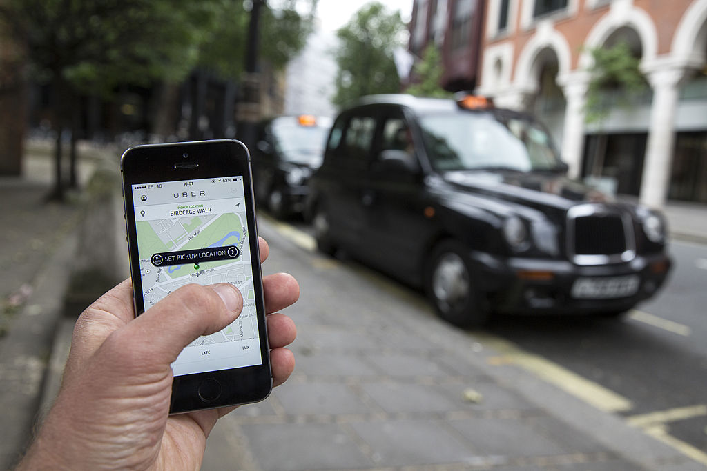 Instead of ordering an Uber in London, consider Tinder to find a date.