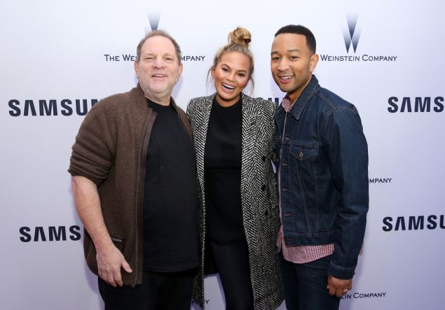 Harvey Weinstein just hanging out with Chrissy Teigen and John Legend at Sundance this year.