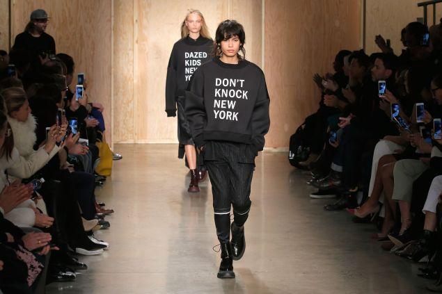 Last season's DKNY show