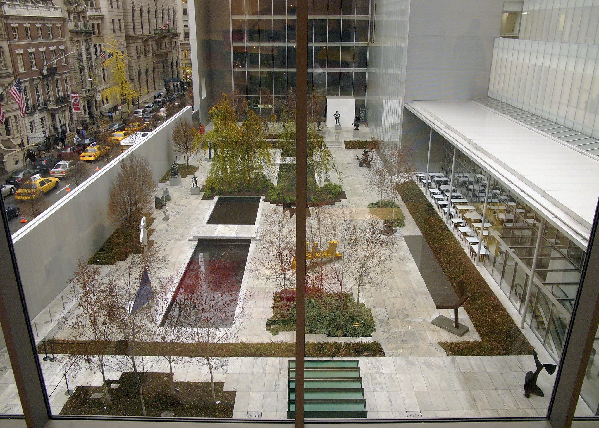 The sculpture garden of the Museum of Modern Art