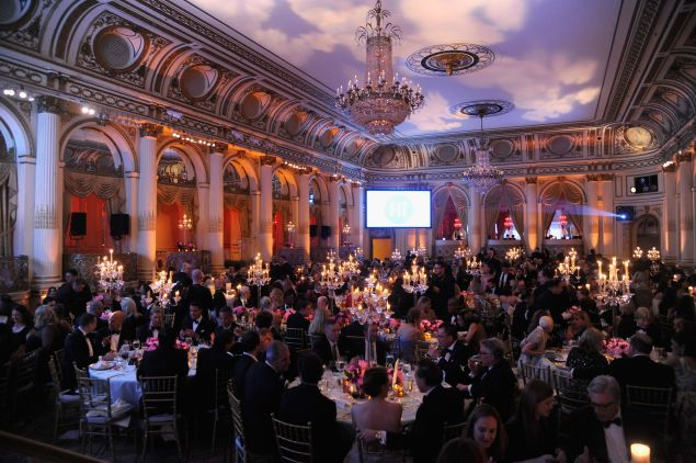 A recent black tie fête in the Plaza's ballroom.