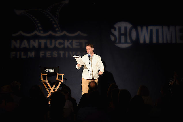 Mike Birbiglia, at a storytelling event.