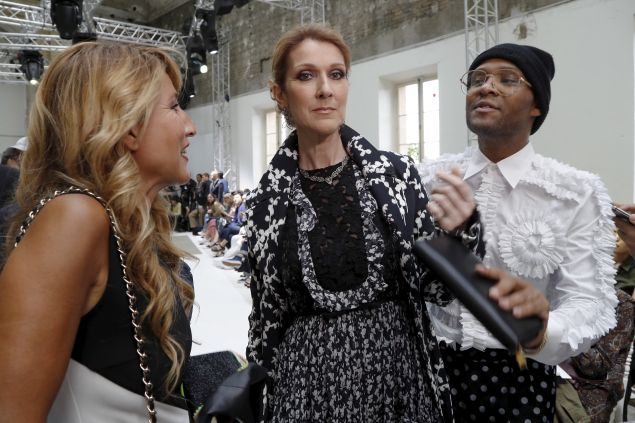 Celine Dion at Couture Week with her stylist Law Roach